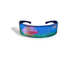 Nueva Aplicación Encendida Gafas Shutter Heart-Shaped LED Navidad Regalo Bluetooth Gafas de Suministro de Fiesta