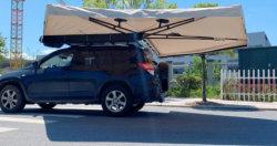 Alquiler de toldos laterales para el exterior de la pared de lienzo Camping Carpa Toldo de 270 grados para el coche de la Carpa Toldo