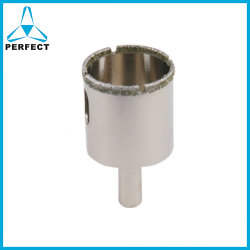 Dentes de serra copo Electroplated Diamond Broca de núcleo para perfuração de materiais muito duros