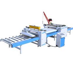 목공 자동 용지 고착 생산 라인/PVC 또는 용지 라미네이팅 기계/PVC 우드 플레이트 표면 라미네이팅