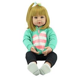 """Baby Dolls Girls生まれ変わる幼児の人形の布ボディ19 """"ビニールの肢の王女の誕生日プレゼントの子どもだましの家のおもちゃ"""