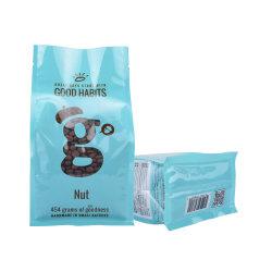 맞춤형 건강 식품 포장 가방 지퍼 백 커피 티 갈색 종이 백