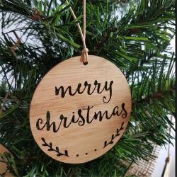 즐거운 성탄 대나무 크리스마스 훈장에 의하여 주문을 받아서 만들어지는 디자인 벽 표시 걸이