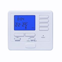 プログラム可能な単段の青いバックライトのデジタル部屋のサーモスタットの暖房および冷却