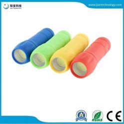 Coloridas promocionales de plástico Mini mazorca antorcha linterna LED Mín.