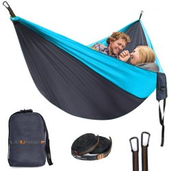 最も柔らかいパラシュートの携帯用ハンモックのキャンプのハンモックのナイロン屋内屋外のハンモック