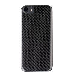 100% подлинного чехол для мобильного телефона из углеродного волокна для iPhone 8 задняя крышка