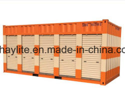 Contenedor de almacén de almacenamiento con garaje Puertas de rodadura