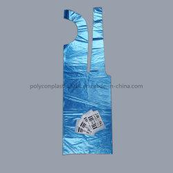 Il grembiule di plastica del grembiule a gettare del PE del commercio all'ingrosso del campione libero fa del grembiule imballato individualmente