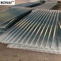 La couleur en plastique ondulé en PVC résistant au feu les tuiles de couverture de feuilles de toiture en plastique ondulé