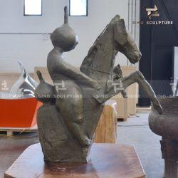 Résumé personnalisé moulage en bronze sculpture comme décoration maison