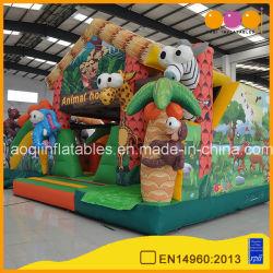 Inflable de la casa de los animales saltando bouncer para la venta (AQ01709-1)