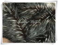 Faux Fur Fancy Feather Café/Preto/Branco