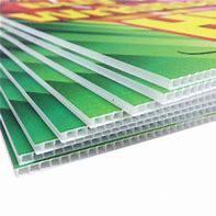 De PP de polifenileno Correx plástico corrugado impressão UV Publicidade Folha oca Board