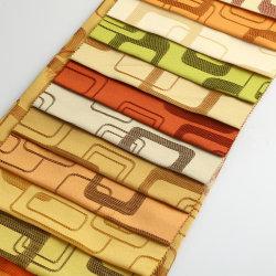 2 Stof van het Gordijn van de Polyester van de Jacquard van het Cijfer van de toon de Geometrische Textiel