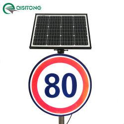 Personalizar Velocidad limitada firmar la energía solar activa con retroiluminación LED reflectora luminosa de tráfico de la seguridad vial la señal de advertencia