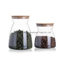 Comida de cozinha do tanque de armazenagem de vidro transparente vedada/contentor