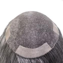 Моно кружева с PU изготовленный на заказ<br/> человеческого волоса мужчин Wig