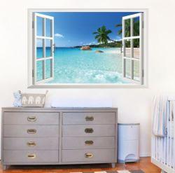 美しい浜の偽造品のWindowsのステッカーのホーム装飾