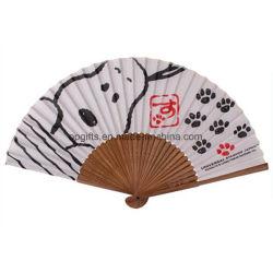 Ventilatore portatile della mano di estate promozionale su ordinazione di PP/Wooden/Paper/Bamboo