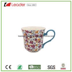 Bloemenstickers keramische koffiemokken voor cadeaus Promotie