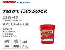 Olie van de Dieselmotor 15W-40 van Tulux van Sinopec T500 de Super