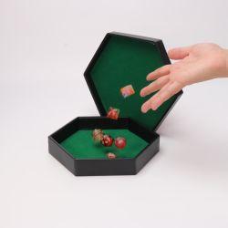 Personalizar hexagonal Dice Rolling Bandeja para juegos de mesa Dungeons & Dragons