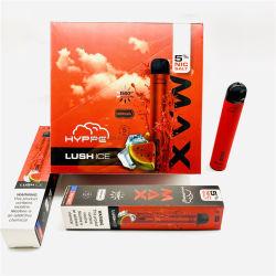 Entrega rápida de los cigarrillos electrónicos desechables Popular Hypee máx.