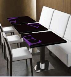 El Corian Restaurante Mesa De Comedor, Mesa De Café, superficie sólida sobre la mesa de comedor