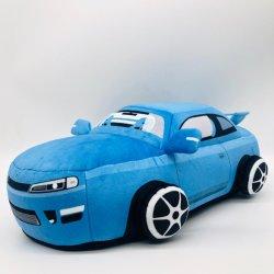 실물 같은 만화, 신선한 무료 샘플, 맞춤형 베개, 컬러풀한 프로모션 맞춤형 블루 봉제 플러쉬 카 모델 토이