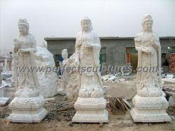 Tempel het Gesneden Marmeren Snijden Sakyamuni die Bodhisattva van het Standbeeld Amitabha van de Steen Grote het Beeldhouwwerk van Boedha bevinden zich (sy-T119)