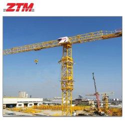 Ztt186 Flat-Top Topless guindaste de construção Auto Erecção Mobile grua-torre (6 Ton-10Ton)