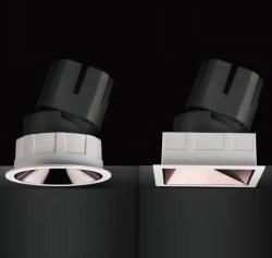 Decke der 7W 12W 20W 30W 40W strahlt runde quadratische Decke vertiefte Downlight justierbare LED unten helle LED Deckenleuchte-LED LED-Rahmen BlendschutzDownlight an