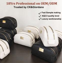 Stockage d'usine de personnalisation clair constituent la toile de lavage de promotion de sacs à maquillage Accessoires de voyage en cuir de gros de bijoux en PVC, produits de toilette personnalisé Sac de cosmétiques