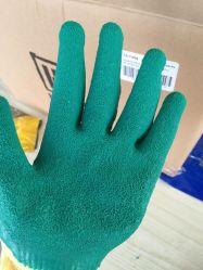 Shell van de polyester het Latex van de Palm bedekte de Handschoenen van de Bedrijfsveiligheid met een laag
