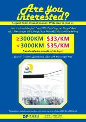 Câble de descente FTTH 1 Core G SM657A2 Câble à fibre optique Anatel