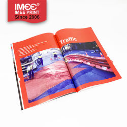 Imeeのカスタム印刷の赤い紫外線ニスをかける紙表紙カタログ