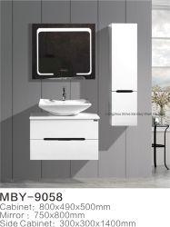 Specchio astuto di illuminazione della stanza da bagno di vanità del dispersore del bacino del Governo del Governo laterale stabilito moderno LED del PVC