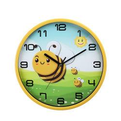 ساعة حائط بلاستيكية رائعة للبيع بملوّن جميل بنمط الحيوانات مع شعار مخصص