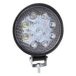 Feu de travail à LED les plus brillants 6000K 27W à LED phare de travail rechargeable