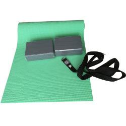 Dfaspo der 2-3 Satz-gesetzte Installationssatz-Yoga-Matte schließt Yoga-Ziegelsteine/Blöcke, tragen Riemen ein,