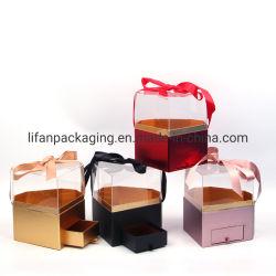 صندوق تغليف الهدايا بأسلوب ماسي مع درج غطاء أكريليك شفاف