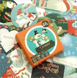 책을 꾸미는 크리스마스 인사말 밀봉 스티커