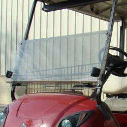 Dobrável e Limpar tipo de plástico de acrílico para carrinho de golfe Club precedente carro pára-brisa