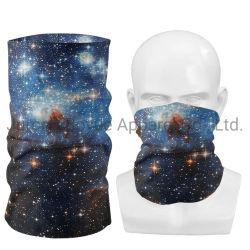 L'estate mette in mostra la sciarpa senza giunte del fronte del collo di Facemask della guaina del collo del tubo del poliestere stampata abitudine della prova della polvere