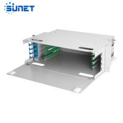 FTTH 19 بوصة 12-144 الألياف البصرية DF الألياف التوزيع الضوئي تثبيت الإطار على الحائط