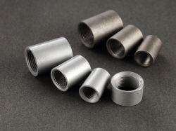 Gi Tetina de tubo galvanizado de alta calidad y el Acero Negro Rosca Macho BSPT