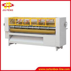 Máquina de fabricación de cartón Caja de cartón impresión borde para cortar en rodajas de afeitar Slitter cartón el corte de hoja fina Slitter goleador máquina