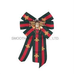 Commerce de gros Mode féminine Bowknot Rhinestone Crystal abeille perlé Bow Brooch