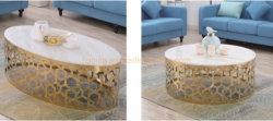 화이트 웨딩 테이블 둥근 메탈 커피 테이블 센터 홈 테이블 새 테이블